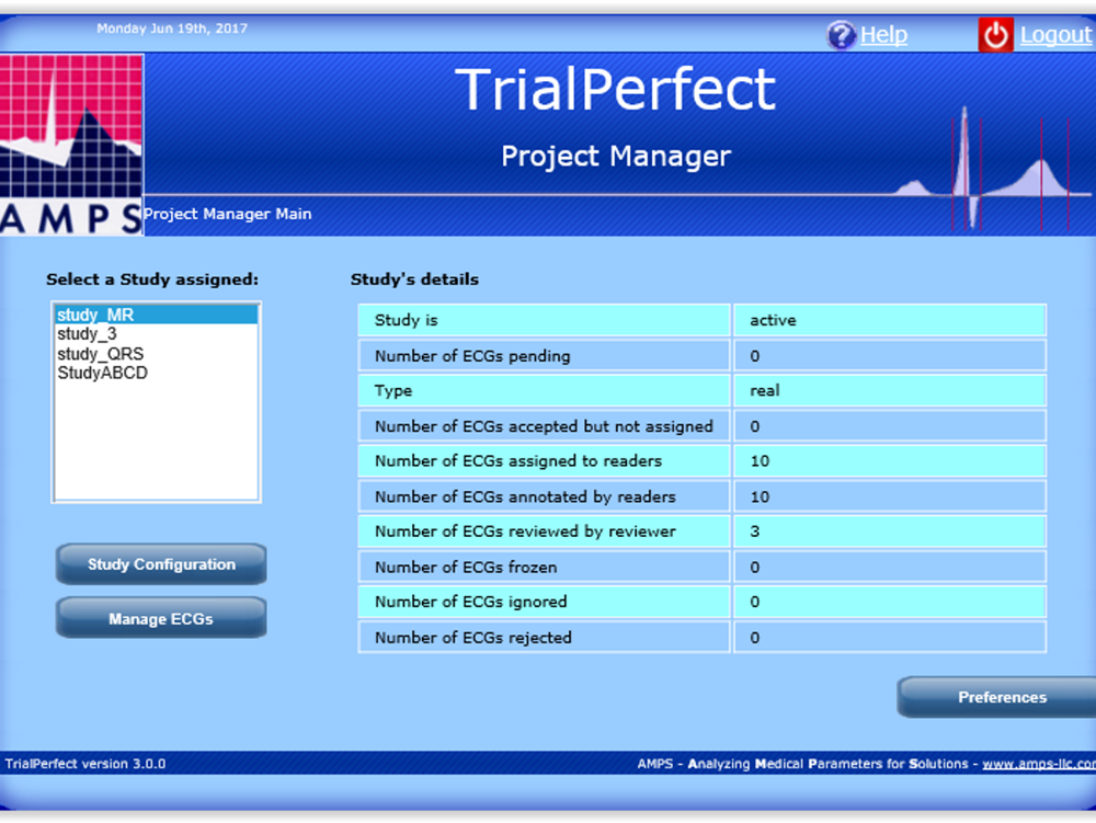 AMPS LLC announces the release of version 3 of TrialPerfect, its back-end database system